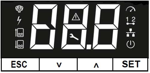 Überwachungs-Display - ferngesteuerter Heizkörper Dampfluftbefeuchter für Büroräume - StandardLine Geräte