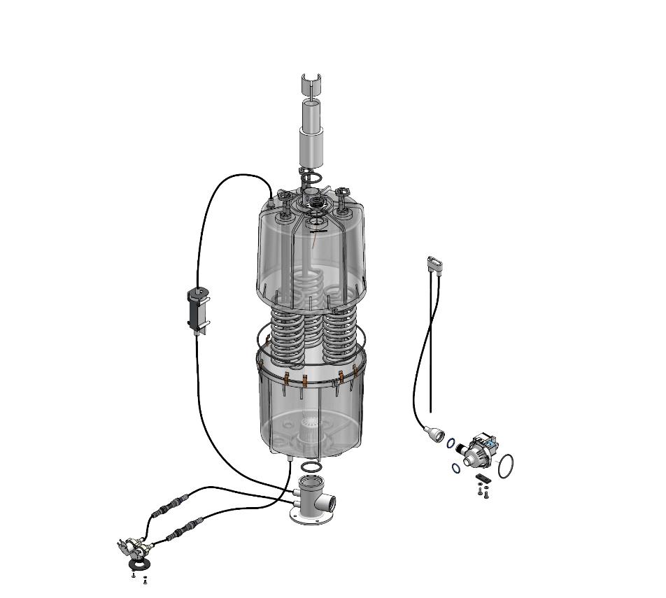 Funktion und Aufbau - Heizkörper Dampfgeneratoren für das Dampfbad - FlexLine Explosionszeichnung Geräte