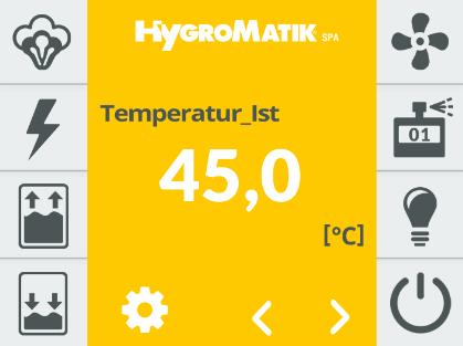 Überwachungs-Display - Elektroden Dampfgeneratoren für das Dampfbade - FlexLine Geräte