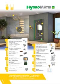 Zubehörmöglichkeiten Dampfgenerator Hygromatik FlexLine Spa Heizkörper