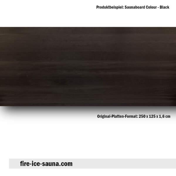 Saunaholz Espe farbig - Colour Black Furnier glatt