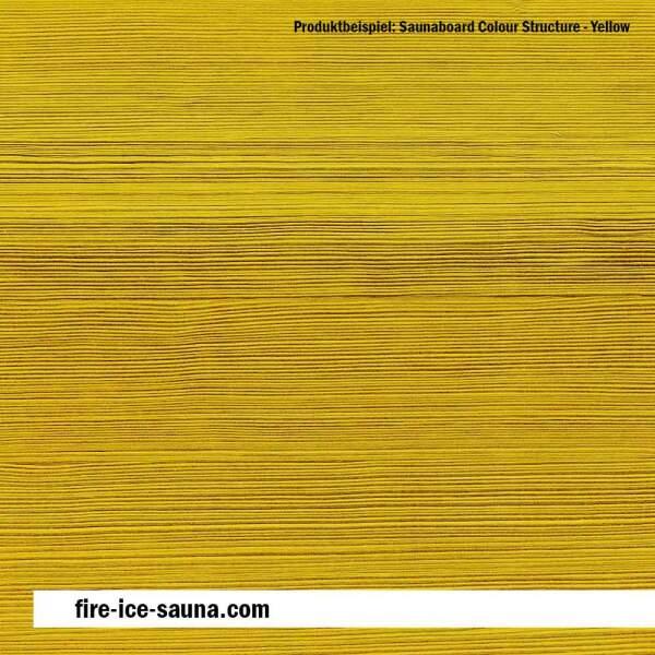 Saunaholz Espe farbig - Colour Yellow Furnier strukturiert