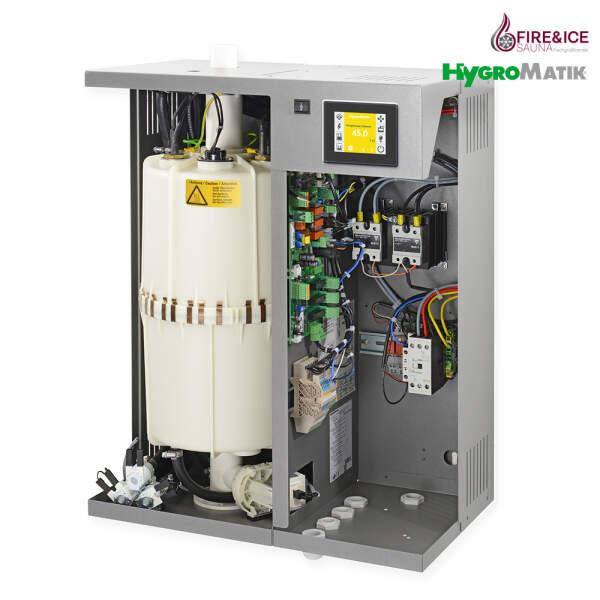 Dampfgenerator FlexLine Spa Heizkörper offen rechts Anschlussansicht
