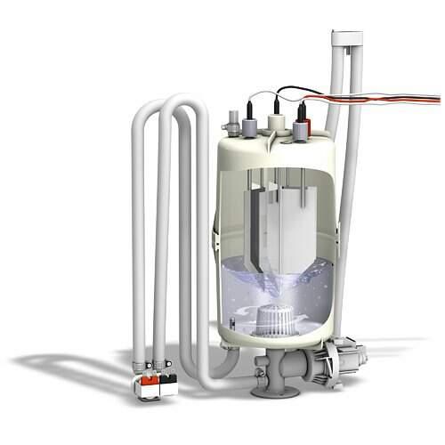 Dampfgenerator FlexLine Spa Elektrode HyFlush und HyCool...