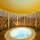 runder Whirlpool Roman beleuchtet