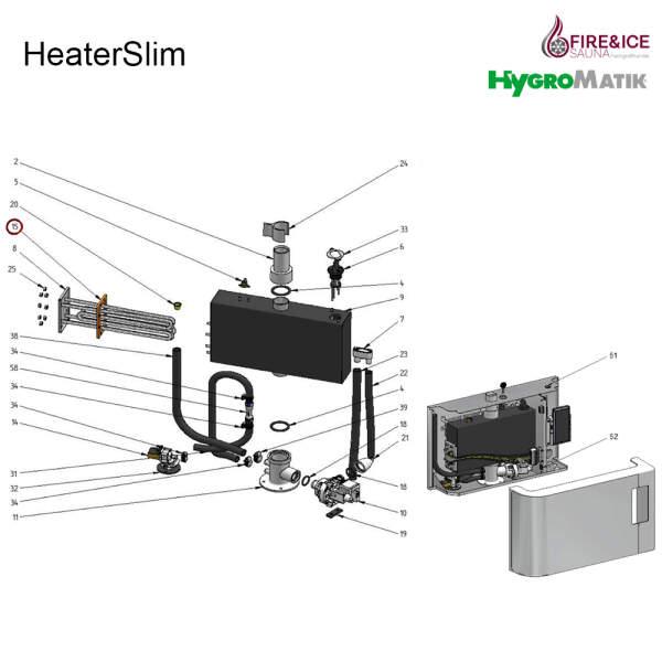 Dichtring für Heizkörper-Dampfgeneratoren...