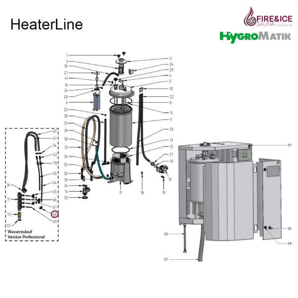 Winkelsteckverbinder für Dampfgeneratoren (E-7600092)