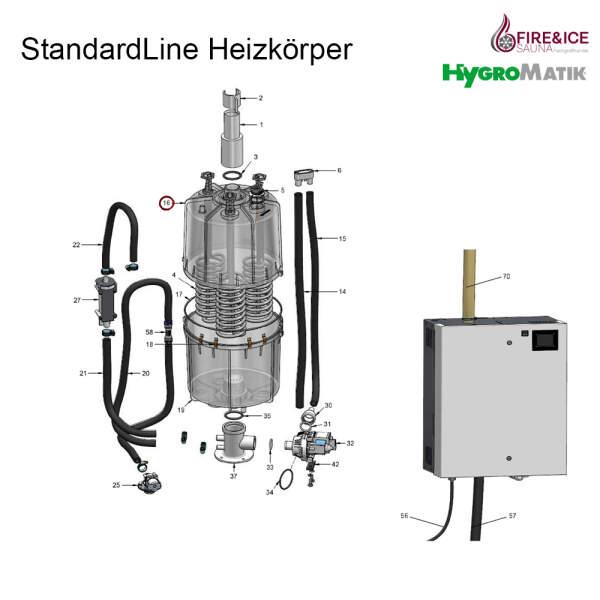 Dampfzylinder 208-240 V für SLH03 CY08 komplett (SP-03-01015)