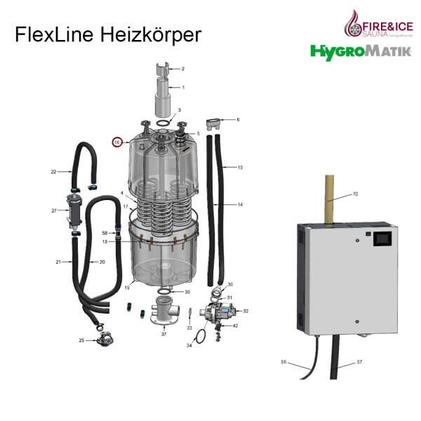 Dampfzylinder 208-240 V für FLH30 CY45 komplett...