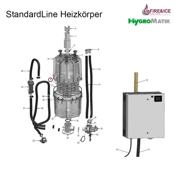 Heizkörper 380-415 V der CY17/45 für Dampfgeneratoren (SP-07-01104)