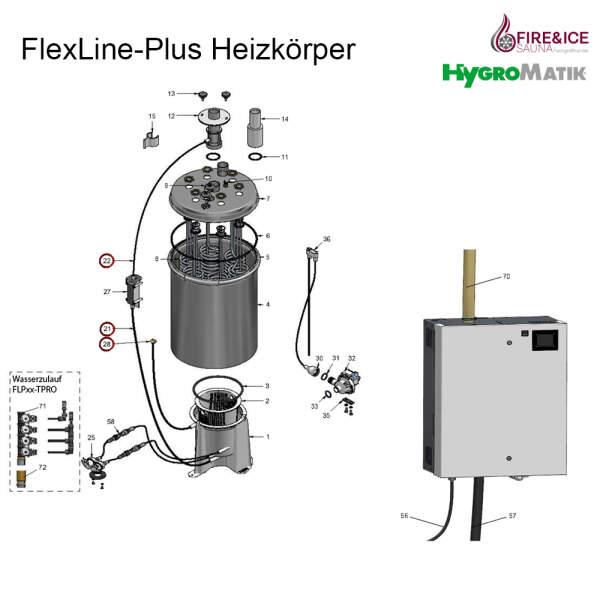 Wasserzulauf-Set für Dampfgeneratoren (WF-08-00000)