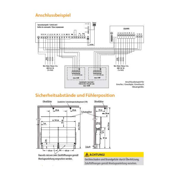 Elektrosaunaofen 46.U XL Hinterwandofen Edelstahl-260-46UXL
