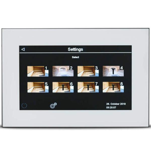 Saunasteuerung Touchscreen finnische Sauna Bio Sauna EOS...
