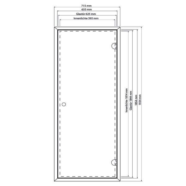 Saunatür Glas Premium | 8 mm | EOS