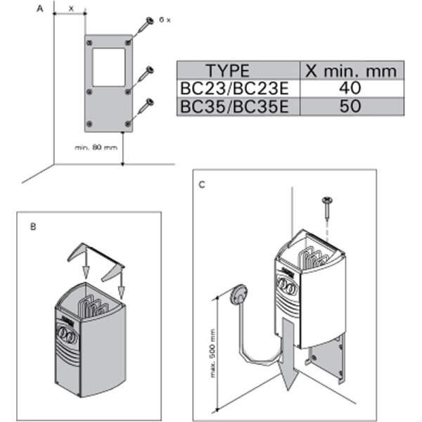 Saunaofen Vega Compact BC35E (3,5 kW) separate Steuerung erforderlich