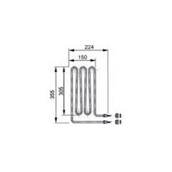 Heizstab - Rohrheizkörper EOS 2500 W (2000.8084)