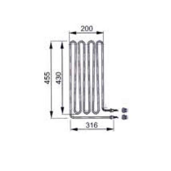 Heizstab -Rohrheizkörper EOS 3000 W (2000.7176)