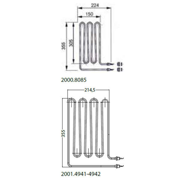 Heizstab - Rohrheizkörper EOS 2500 W (2001.4942)