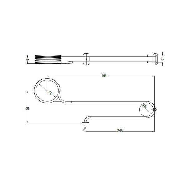 Heizstab - Rohrheizkörper für Verdampfer EOS 1500 W (2001.3335)
