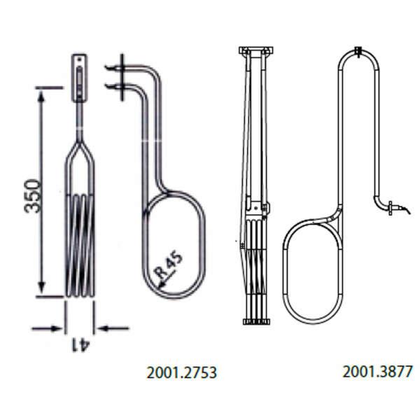 Heizstab - Rohrheizkörper für Verdampfer EOS 2000 W (2001.3877)