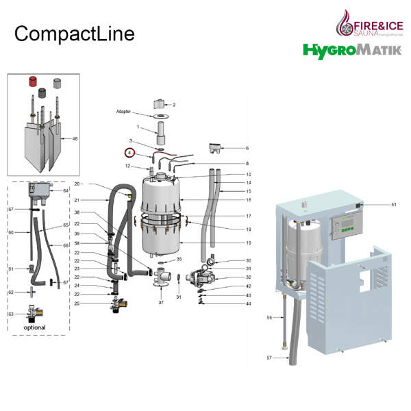 Elektrodenstecker 63 A, für Dampfgeneratoren...