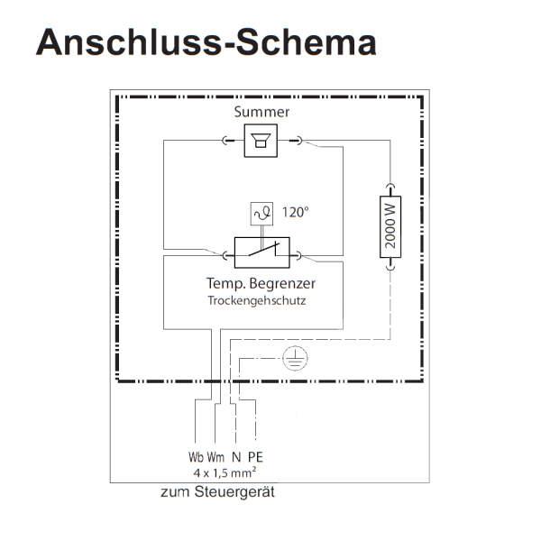 Zusatzverdampfer Chromstahl 2,0 kW (1 x 2,0 kW)