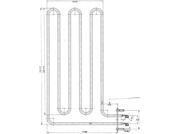 Rohrheizkörper (1500 W / 230 V) für VAPOTHERM...