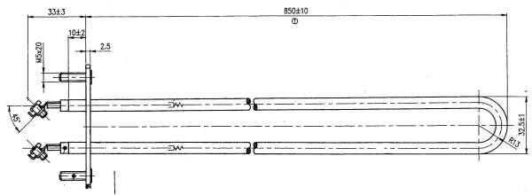 Rohrheizkörper (1500 W / 230 V) für Saunaofen R33/1 und UE35/100