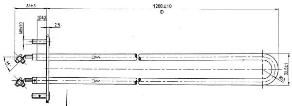 Rohrheizkörper (2000 W / 230 V) für Saunaofen R...
