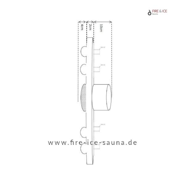 """Funktionsplatte PVC80 mit Anschlüssen ½"""" für 2 Düsen"""