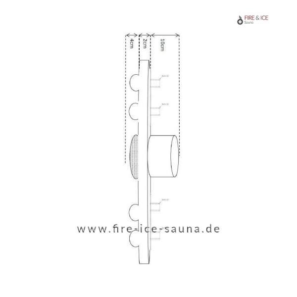 """Funktionsplatte PVC80 mit Anschlüssen ½"""" für 4 Düsen"""