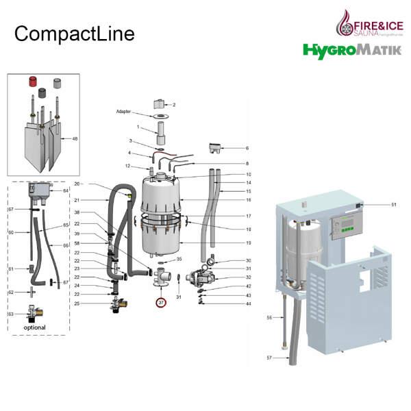 Stützfuß DN20/25 für Dampfgeneratoren (E-3220000)