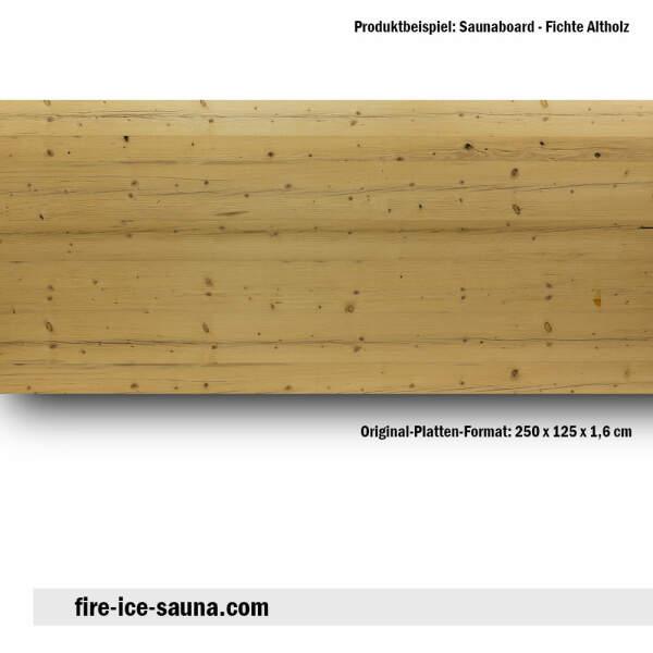 Saunaholz Fichte altholz - Furnier glatt