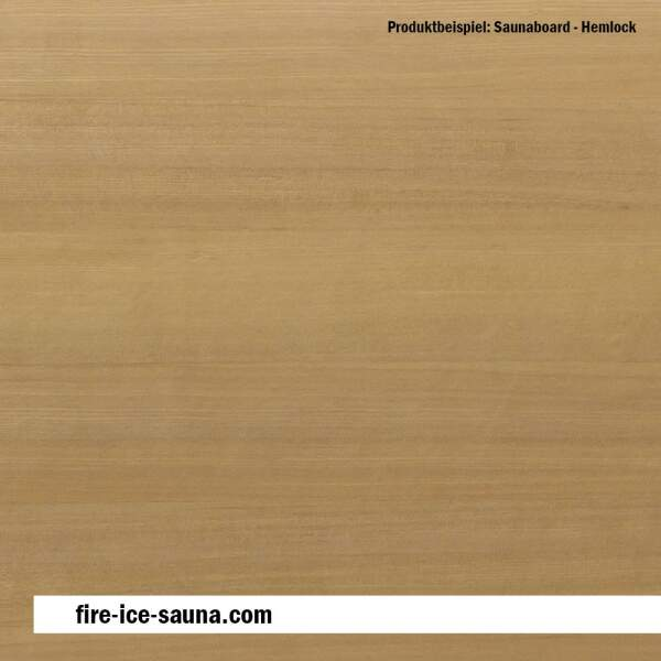 Saunaholz Hemlock - Furnier glatt