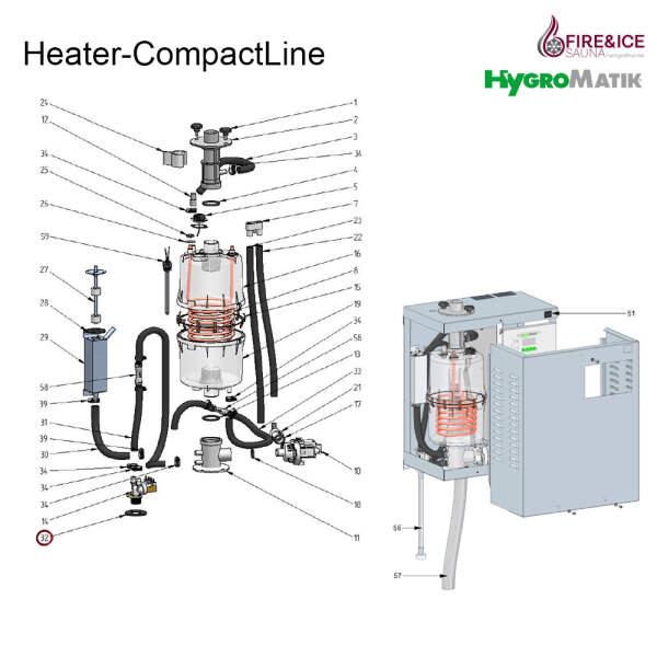 Gummi-Dichtring des Magnetventils / Gehäuses für Dampfgeneratoren (E-2304036)