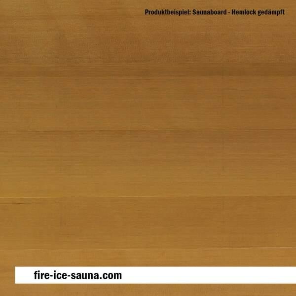 Saunaholz Hemlock gedämpft - Furnier glatt