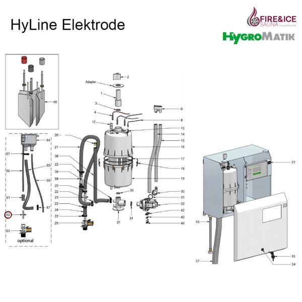 Erdungshülse von HyFlow für Dampfgeneratoren (E-2304078)
