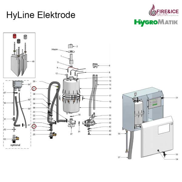 Verbindungsschlauch für Dampfgeneratoren (E-2604002)