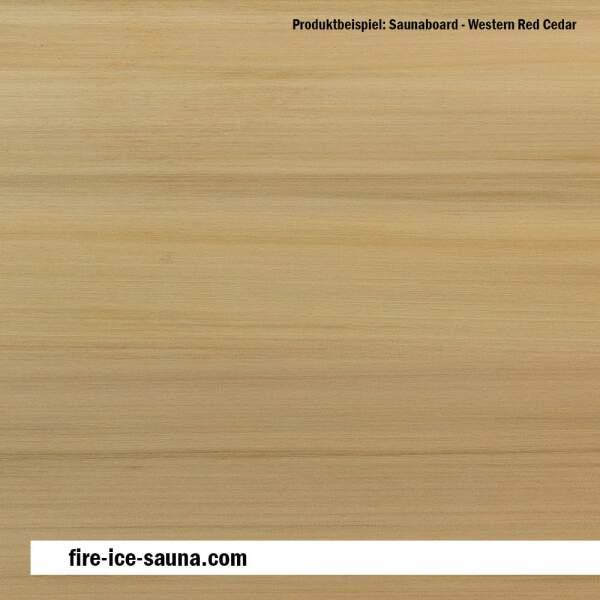 Saunaholz Western Red Cedar - Furnier glatt