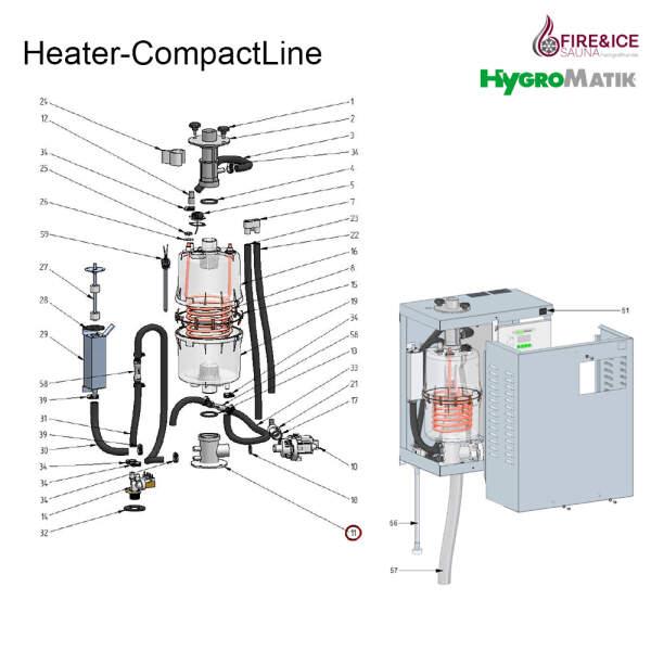 Stützfuß des Dampfzylinders für Dampfgeneratoren (E-2206086)