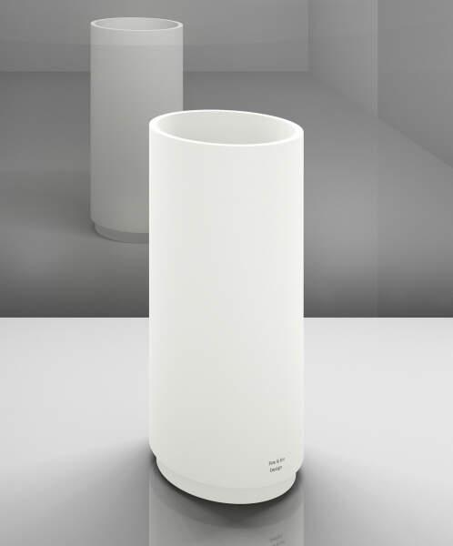 Trinkbrunnen, rund, Korpus: weiß, Sockel: weiß