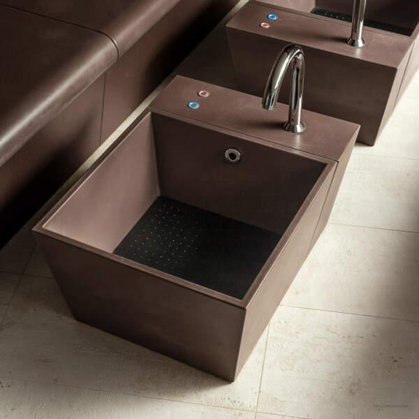 Fußbecken Keramik mit rutschfester Oberfläche
