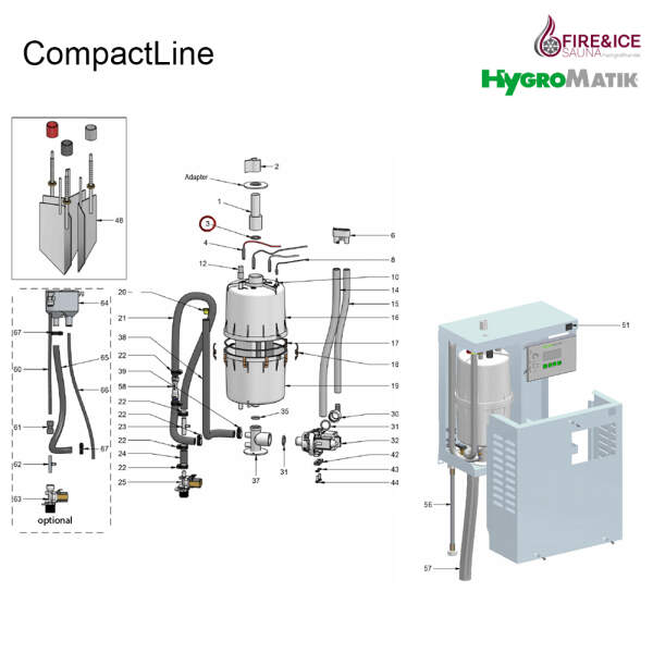 O-Ring-Dichtung für Dampfgeneratoren (E-3221006)