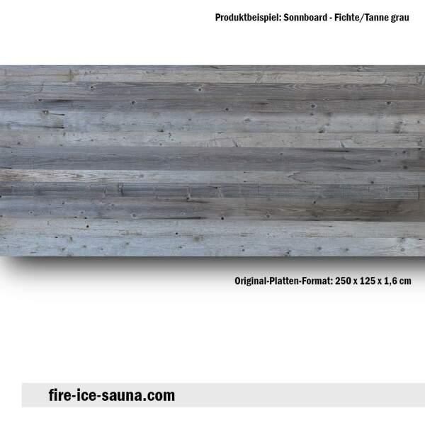 Saunaholz Sonnboard Grau - sonnenverbranntes Furnierholz