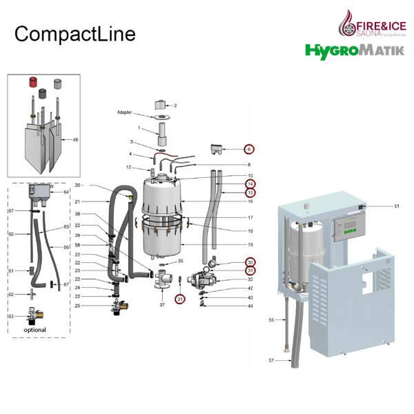 Ablaufschlauch-System für Dampfgeneratoren (B-3401013)