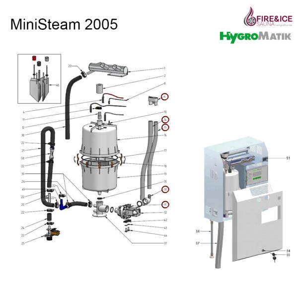 Ablaufschlauch-System für Dampfgeneratoren (B-3401017)