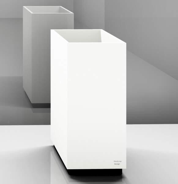 Trinkbrunnen, eckig, für Standarmatur, 40x90x40 cm, Korpus: weiß, Sockel: weiß