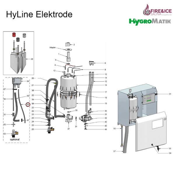 Verbindungsschlauch des Hy-Flow-Ablaufes für Dampfgeneratoren (E-7600224)