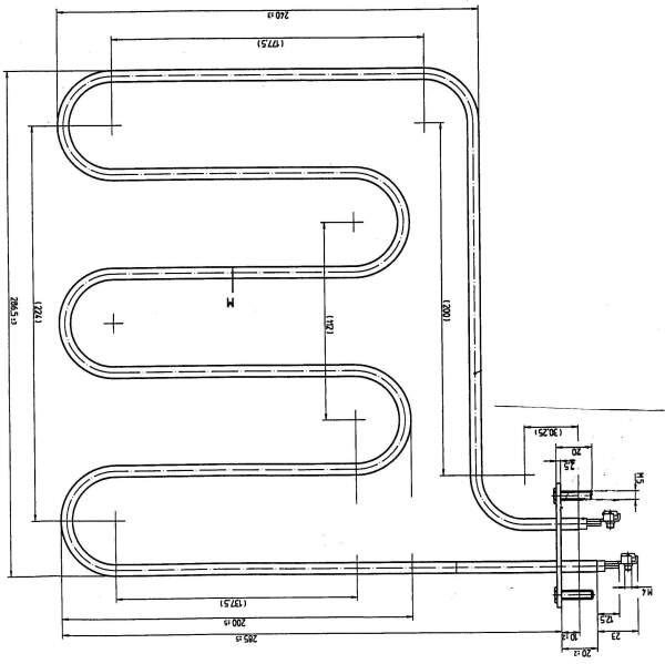 Rohrheizkörper (1000 W / 230 V) für SAUNATHERM...