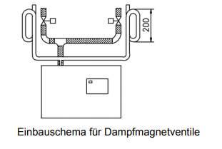 Dampfmagnetventil 0-0.4 bar, komplett für...